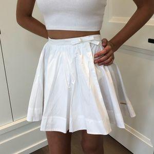 Burberry White Skirt